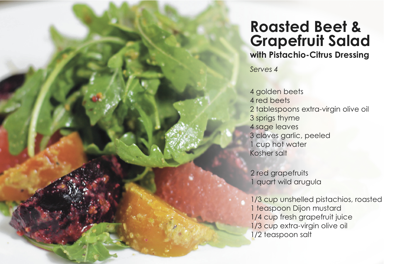Roasted Beet and Grapefruit Salad 1